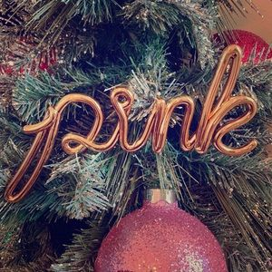 PINK Holiday fixture ornament